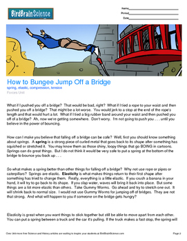 Intro to Forces, How to Bungee Jump Off a Bridge - Engaging Science Reading