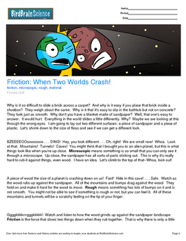 Intro to Forces, Friction: When Two Worlds Crash - Engagin