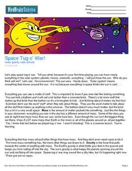 Intro to Forces, Space Tug of War - Engaging Science Reading