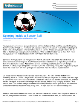 Intro to Forces, Spinning Inside a Soccer Ball - Engaging
