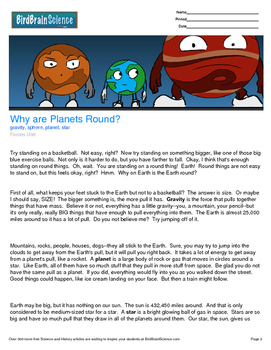 Intro to Forces, Why Are The Planets Round? - Engaging Sci