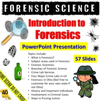 Intro to Forensic Science PowerPoint Presentation