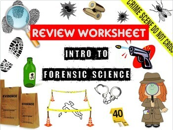 intro to forensic science review worksheet and answer key tpt. Black Bedroom Furniture Sets. Home Design Ideas