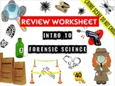 Intro to Forensic Science Review Worksheet & Key *includes a digital version