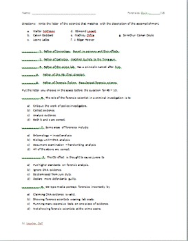 Intro to Forensics Quiz
