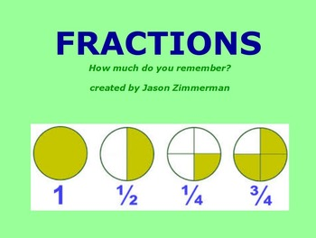 Introduction to Fractions & Addition of Fractions Flipchart