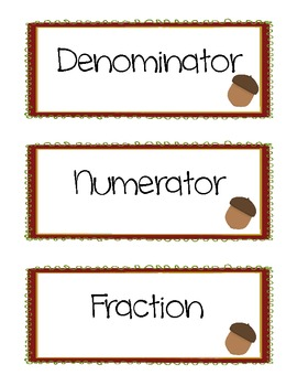 Intro to Fractions: Fall Edition