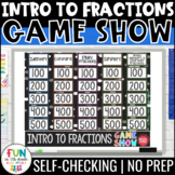 Intro to Fractions Game Show | Digital Math | Test Prep Math Review Game