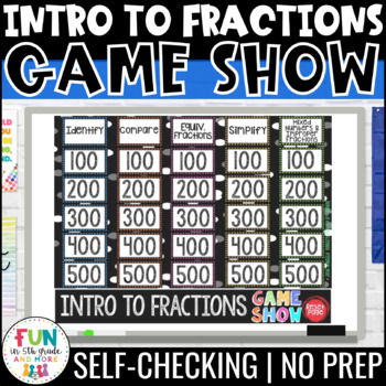 Intro to Fractions Game Show PowerPoint Review Game