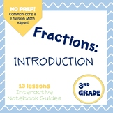 Intro to Fractions (enVision Topic 12) Interactive Notebook