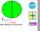 Intro to Fractions Math SmartBoard Lesson Primary Grades