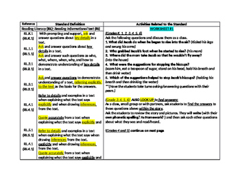 Intro to Free Questions and Core Activities for Story (Gra