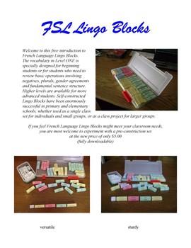 Intro to French Language Lingo Blocks