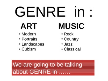 Intro to Genre - Power Point