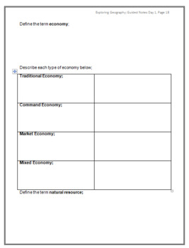 Intro to Geography Guided Notes