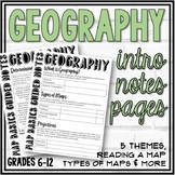 Geography Guided and Doodle Notes (Intro to Geography)