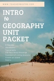 Intro to Geography Packet: Map Skills, 5 Themes, Topograph