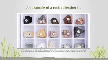 Intro to Geology for first grade with matching standard