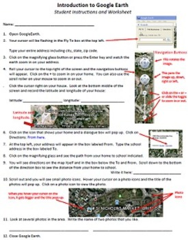 Intro to Google Earth Technology Lesson Plan & Materials