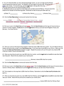 Intro to Google Maps Distance Calculator Technology Lesson Plan & Materials