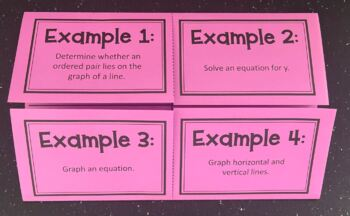Intro to Graphing Linear Equations (Foldable)