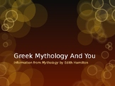 Odyssey Unit: Intro to Greek Mythology