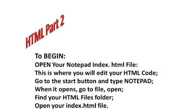 Intro to HTML Part 2