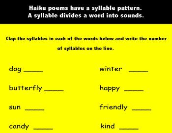 Haiku Poetry Mini-Lesson