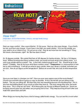 Intro to Heat and Thermodynamics, How Hot?, Engaging Science Reading