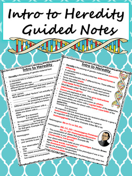 Intro to Heredity Notes