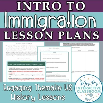 """Intro to Immigration Lesson & """"Immigrants: We Get the Job Done"""" Viewing Guide"""