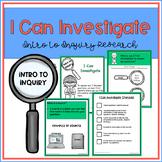"Inquiry Research in the Library - No Prep ""I Can Investigate"""