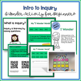 """Inquiry Research in the Library - No Prep """"I Wonder"""" Questioning"""