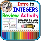 Intro to Integers Activity Review Opposites Absolute Value Real Word Station