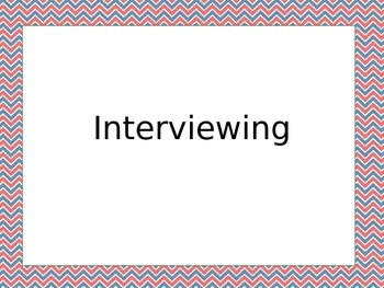 Intro to Interviewing for Yearbook Staff