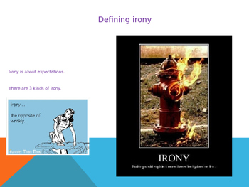 Intro to Irony Situational Dramatic and Verbal