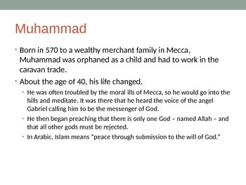 Intro to Islam -- Middle School
