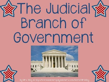 Intro to Judicial Branch PowerPoint