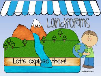 Intro to Landforms Powerpoint - Can be printed as class book