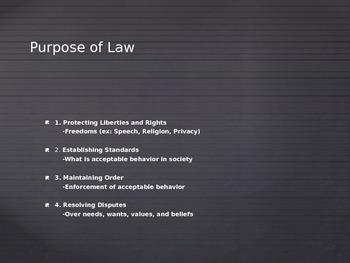 Intro to Law Lecture Presentation
