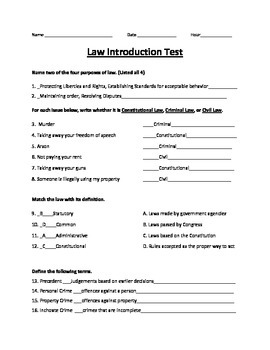 Intro to Law Test