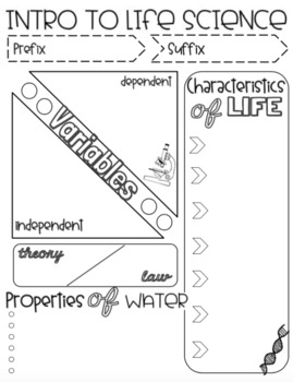 Intro to Life Science Doodle Notes