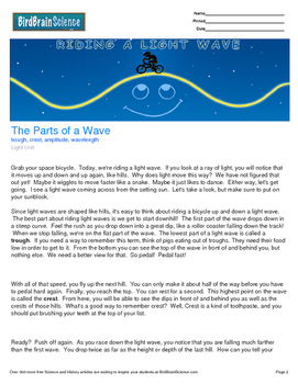 Intro to Light, The Parts of a Wave - Engaging Science Reading