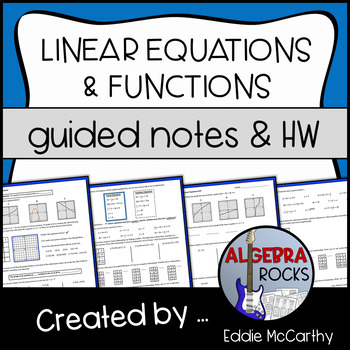 Intro to Linear Equations (Guided Notes and Assessment)