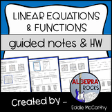Intro to Linear Equations / Functions (Guided Notes and Assessment)