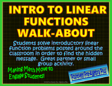 Intro to Linear Functions Walk-About Activity