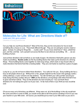 Intro to Living Systems, What are Directions Made of? - Engaging Science Reading