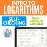 Intro to Logarithms Fun Activity