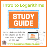 Intro to Logarithms Study Guide