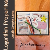 Intro to Logarithms with Logarithm Properties Doodle Notes Packet